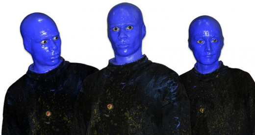 Maybe he should have joined Blue Man Group instead.