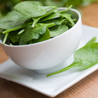 Spinach is rich in magnesium.