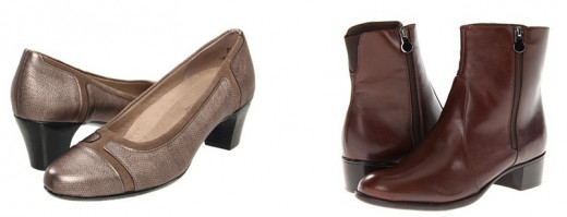 Women's Munro American shoes: Jillian, $200 (left), and Linda, $270 (right).