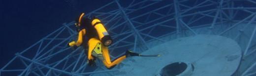 Diving around the antenna of the Vandenberg