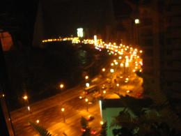 Night view of the Corniche Promenade