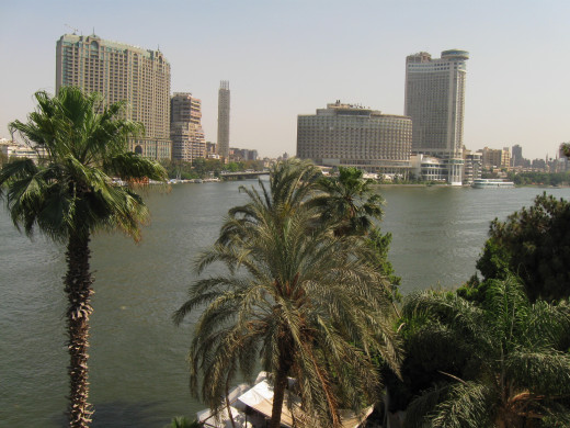 4 Seasons hotel as viewed from Across the Nile