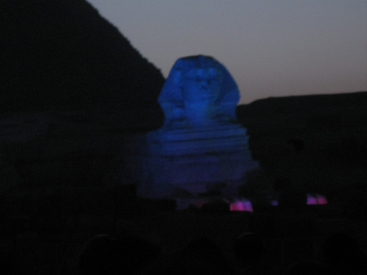 The Sphinx during the Light and Sound Show