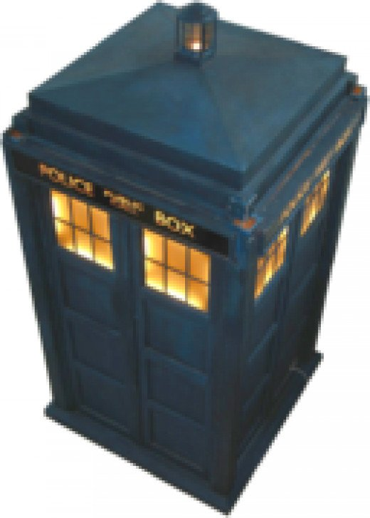 The TARDIS, England's most recognizable time travel vehicle.