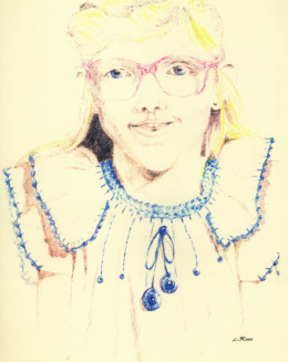 A friends daughter done from a school photograph using colored pencils.