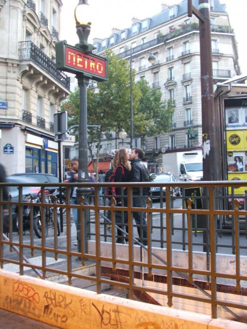 Entrance to Guy Môquet Metro station, Paris, France