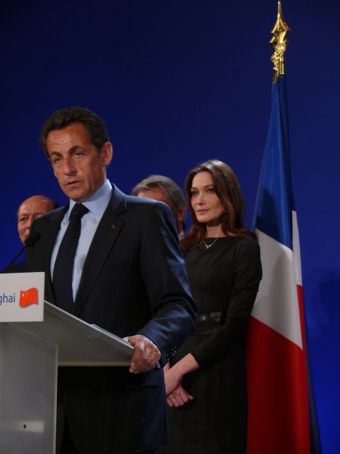 President Nicolas Sarkozy and First Lady Carla Bruni in 2010