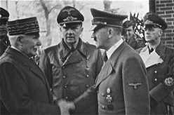 Marshal Pétain shaking hands with Hilter, 1940
