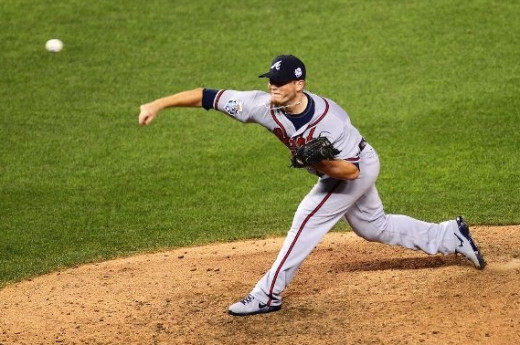 Craig Kimbrel, closer for the Atlanta Braves