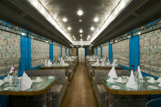 Seating Plan of Sheesh Mahal Dining Car which has seating capacity of 42