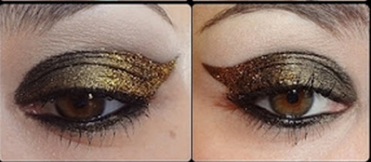 Golden eye makeup perfect for that bridal or party look