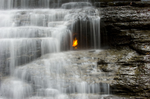 Eternal Flame Falls, USA
