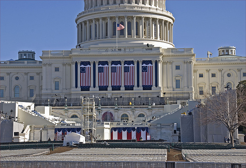 THE CAPITOL BUILDING PREPARING FOR 1/21/2013