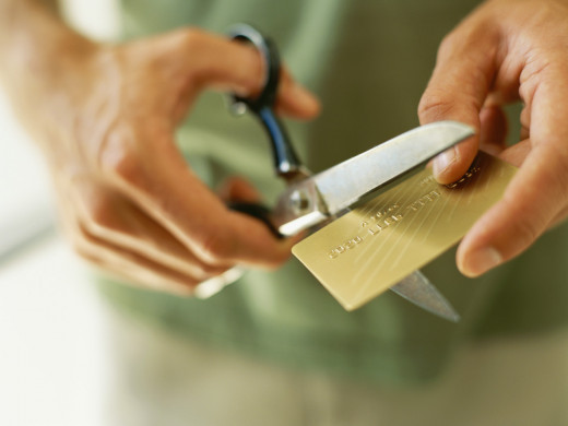 If chronic credit card debt is a problem, sometimes cutting up the card is the best solution.