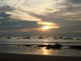A Tamarindo Beach, Costa Rica, sunset.  Travel hubs should have lots of photos to secure reader interest.  You can organize them based on the different types of tourist attractions.
