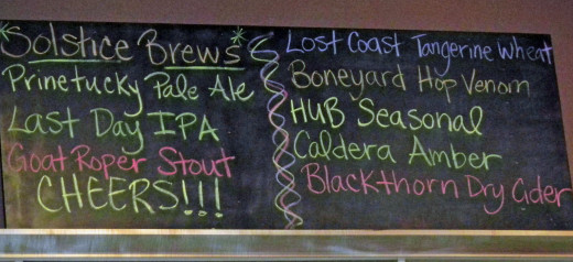 Check out today's menu of beers.