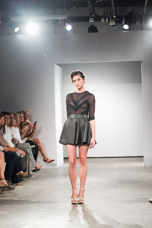 Leather is an unexpected twist for spring 2013. (MesDress Spring/Summer 2013)