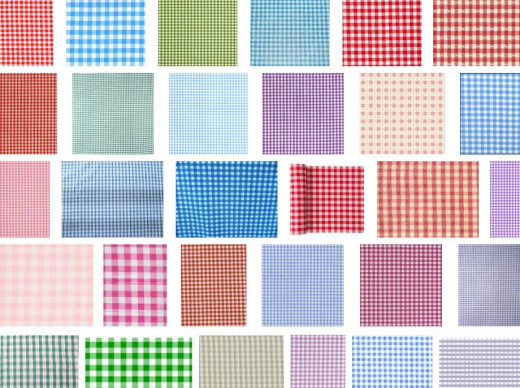 Gingham comes in a variety of colors and scale.