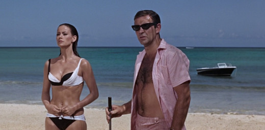 Sean Connery looking dashing in Pink Gingham in Thuderball