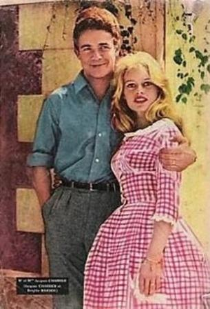 Bridget Bardot in Pink Vichy wedding dress.