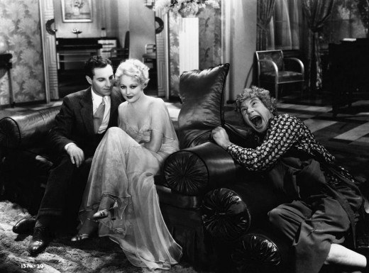 Zeppo and Harpo with Thelma Todd in Horse Feathers (1932)
