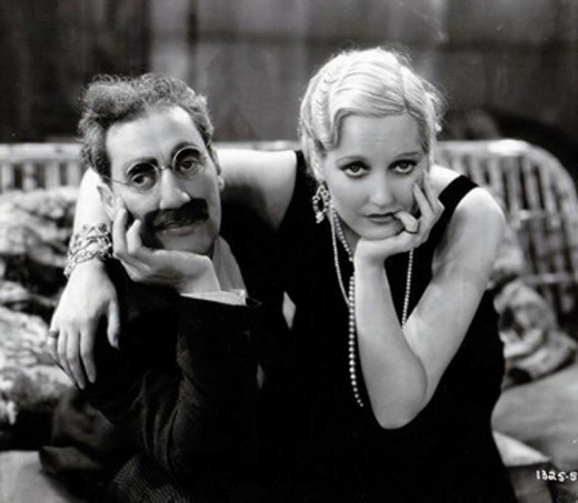 Groucho with Thelma Todd in Monkey Business (1931)