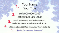 It's not difficult to make your own simple, easy to read and easy to understand business card that contains all your useful contact information in a compact, attractive size.