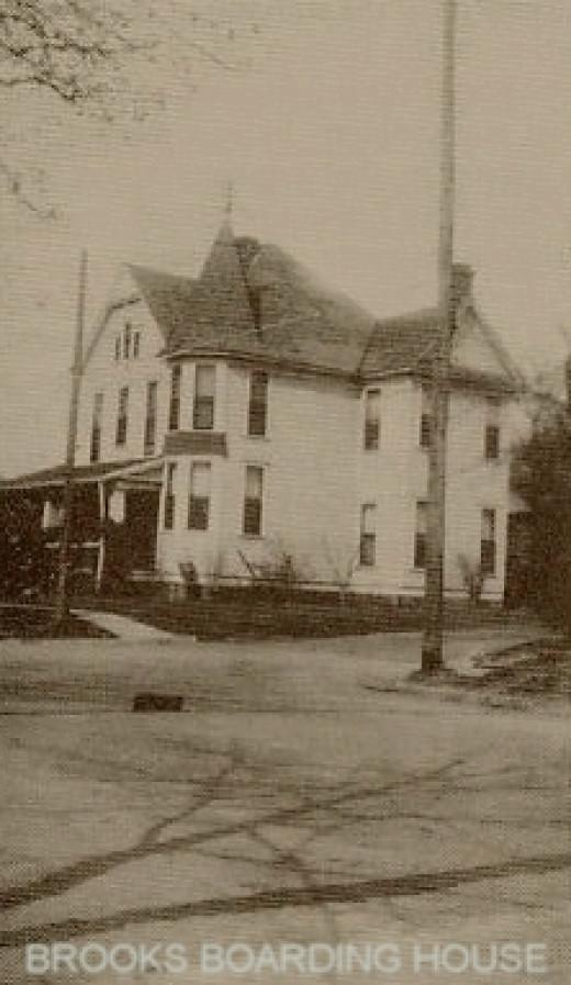 Brooks Boarding House where Dillard Darby's car was taken