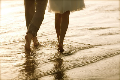 walk in the beach with lover