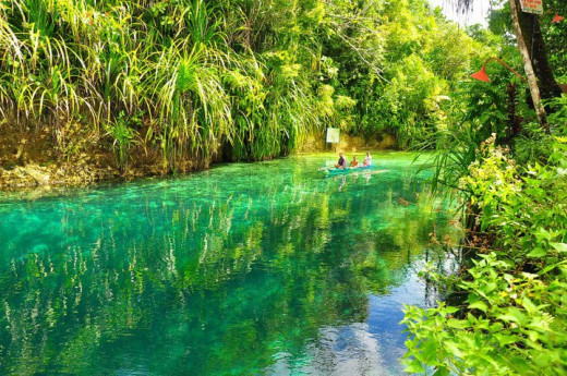 The bewitching Enchanted River at Surigao del Sur, Philippines