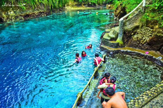 Plunge deep in the enchanting turquoise crysal clear water of this river