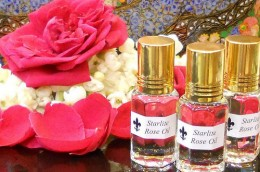 Rose-scented beauty products