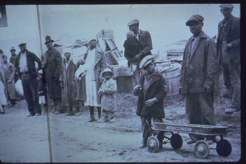 Evictions of black sharecroppers were commonplace after WWII.