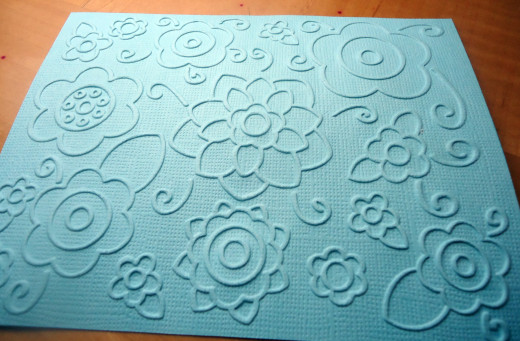 Paper embossed using the Big Shot and Sizzix Textured Impressions embossing folder.
