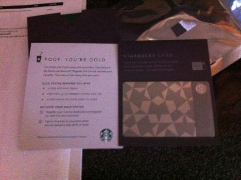 The Starbucks Steel Card ready to be used!