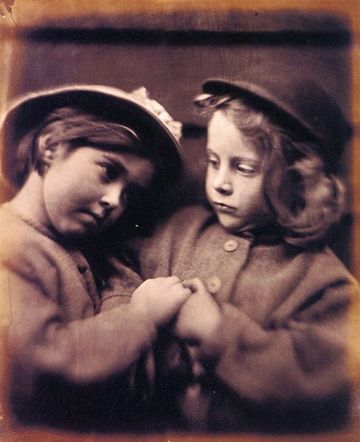 I always imagine my sister and I in a very old fashioned way.