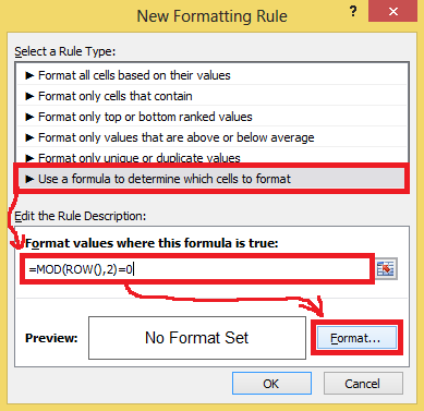 Apply new function for formatting rule