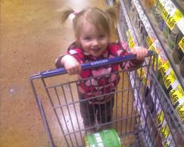She LOVES shopping!