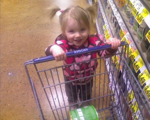 She LOVES shopping!