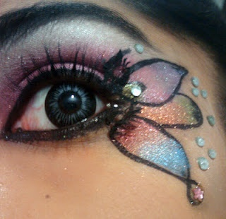 A wonderful butterfly eye makeup you can sport for themed parties