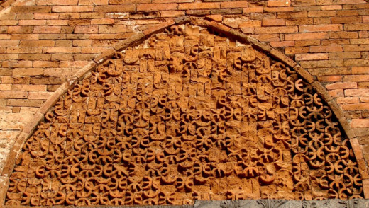 Geometric design in the Tympanum; Adina mosque