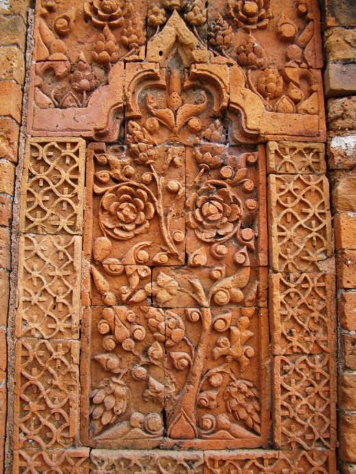 Terracotta art; Kherur mosque 1