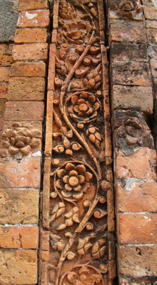 Terracotta art; Kherur mosque 2