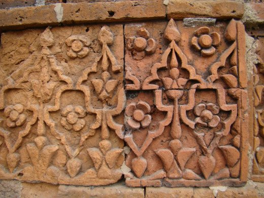 Terracotta art; Kherur mosque 4