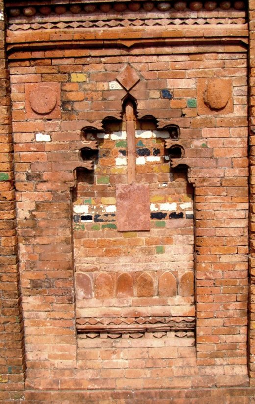 Terracotta art; Loton mosque 4
