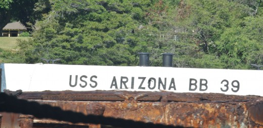 Approaching the USS Arizona