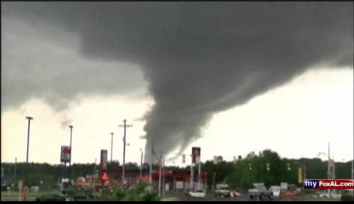 A tornado in Cullman, AL