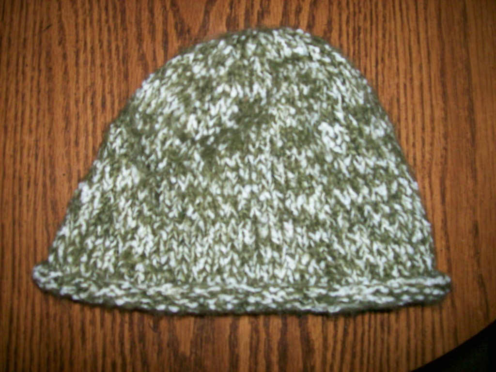 Knitting Pattern Hat 10mm Needles : How to Knit a Hat Using Straight Needles: A Beginners ...