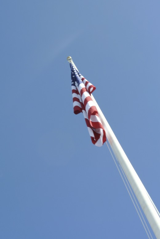 Flagpole at the USS Arizona Memorial