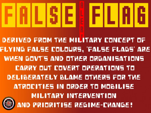 False flags are meant to divert your attention away from the real culprit toward a patsy. This is done so that while the patsy is being hounded, the real perpetrator can get away with even bigger crimes in plain sight while blaming the patsy.